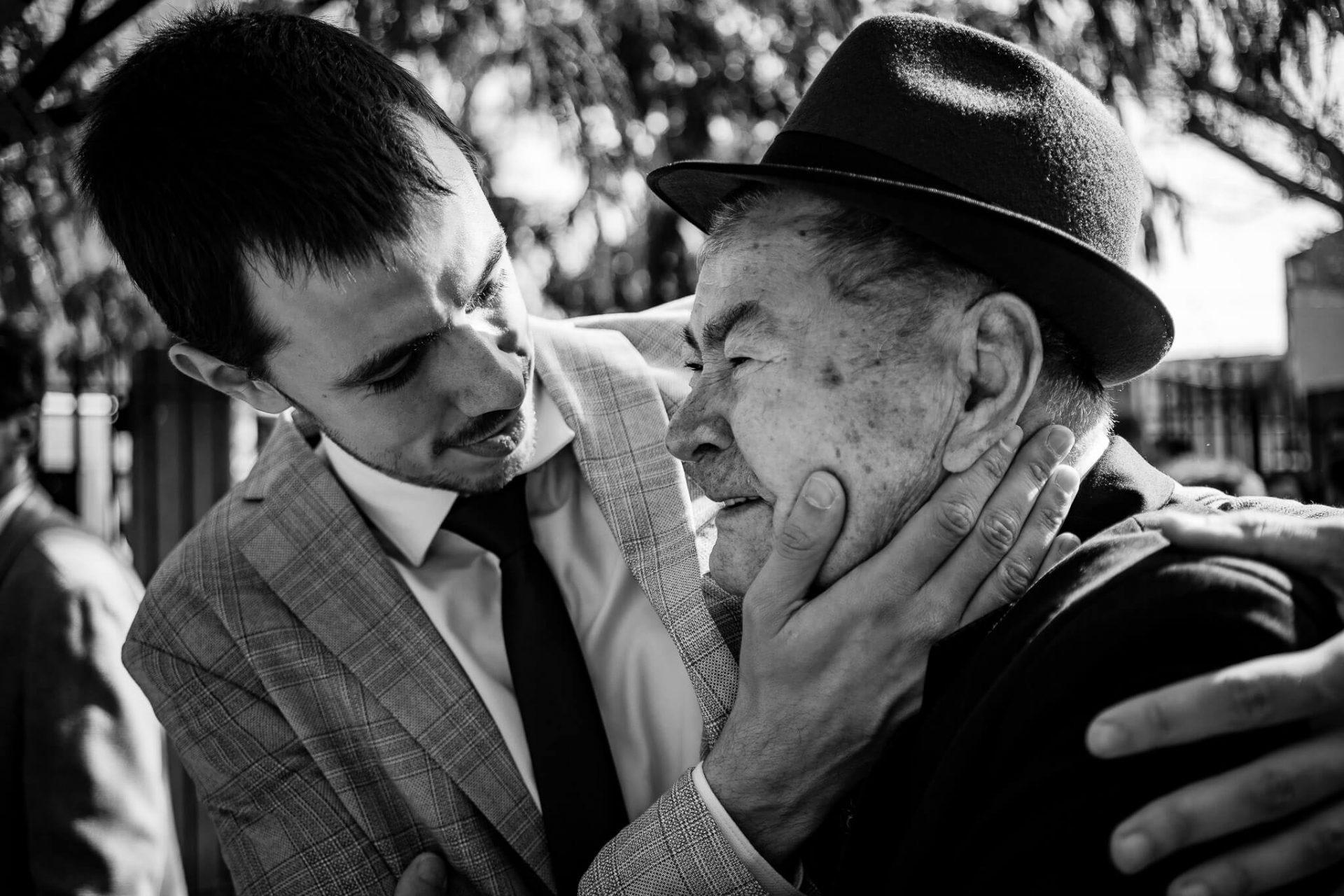 fotografie cu bunicul